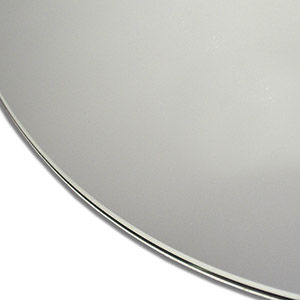 Smooth polished edge circular and oval mirrors