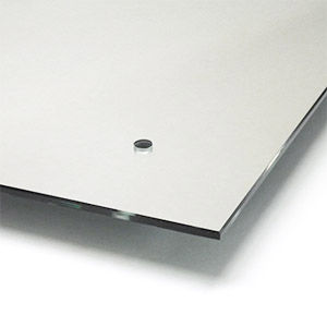 Smooth polished edge rectangular mirrors with pre-drilled holes